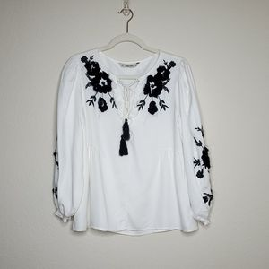 Zara Floral Embroidered Top